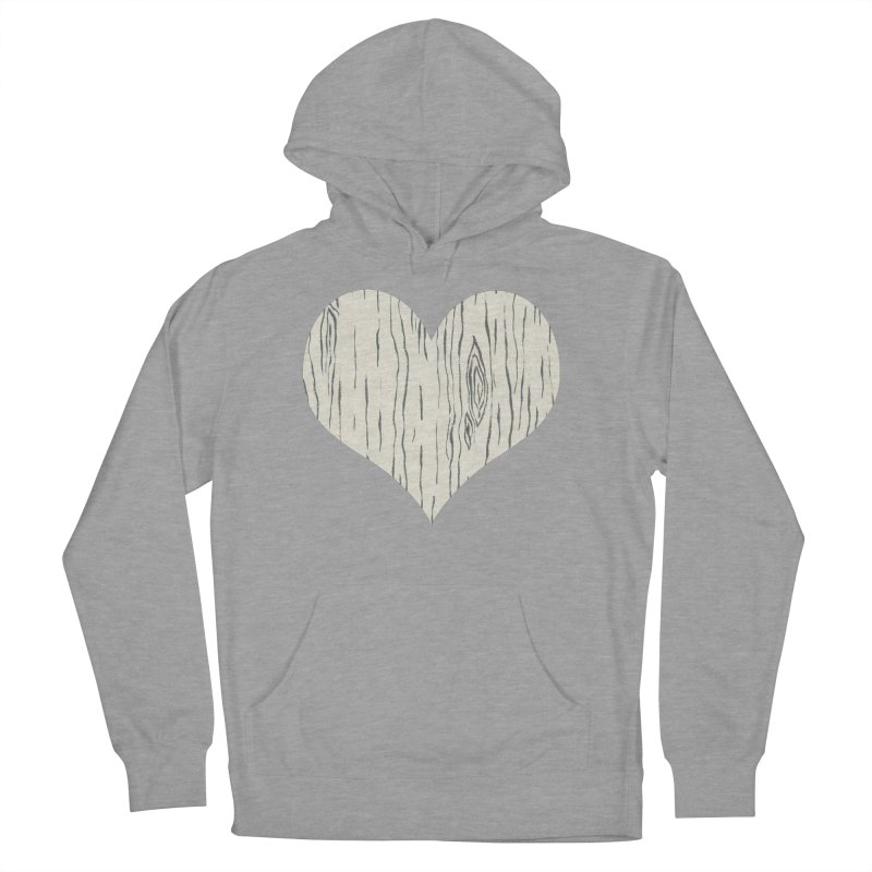 Heart of Birch Men's French Terry Pullover Hoody by FashionedbyNature's Artist Shop