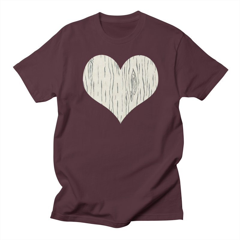 Heart of Birch Women's Regular Unisex T-Shirt by FashionedbyNature's Artist Shop