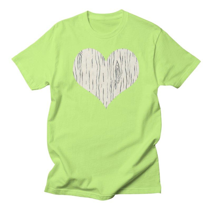Heart of Birch Men's Regular T-Shirt by FashionedbyNature's Artist Shop