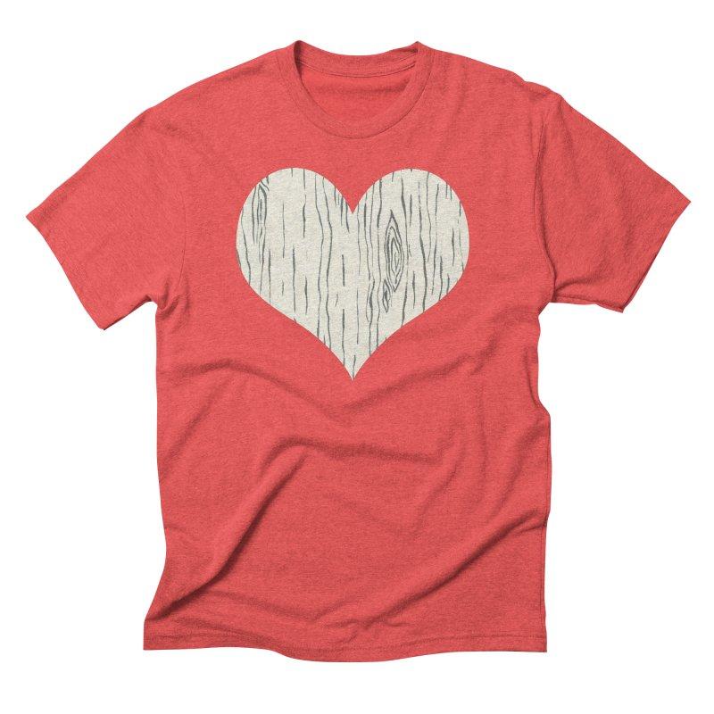 Heart of Birch Men's Triblend T-Shirt by FashionedbyNature's Artist Shop
