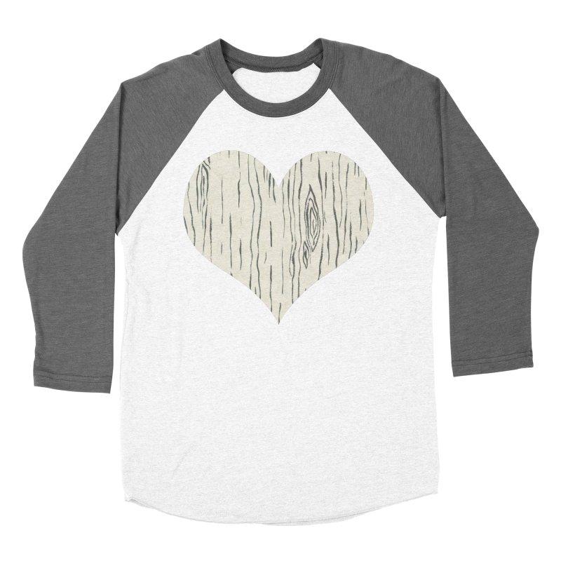 Heart of Birch Men's Baseball Triblend Longsleeve T-Shirt by FashionedbyNature's Artist Shop