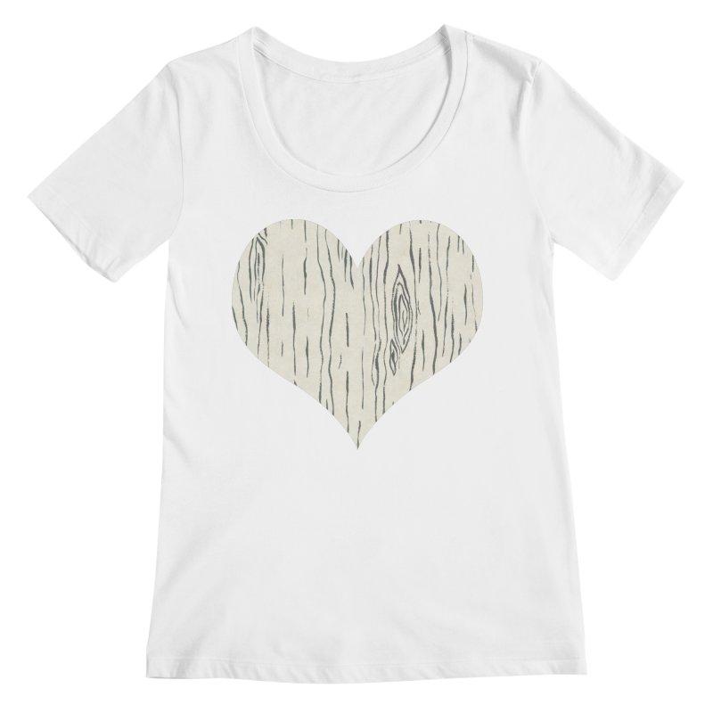 Heart of Birch Women's Regular Scoop Neck by FashionedbyNature's Artist Shop