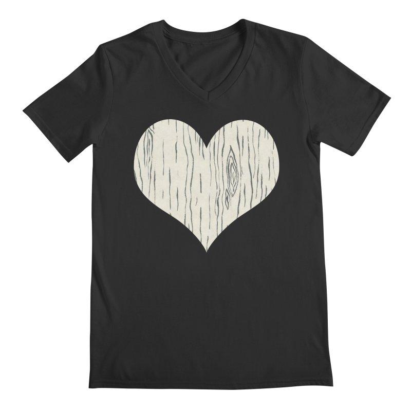 Heart of Birch Men's Regular V-Neck by FashionedbyNature's Artist Shop