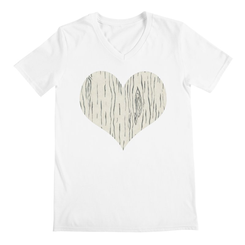 Heart of Birch Men's V-Neck by All Fashioned by Nature Artist Shop