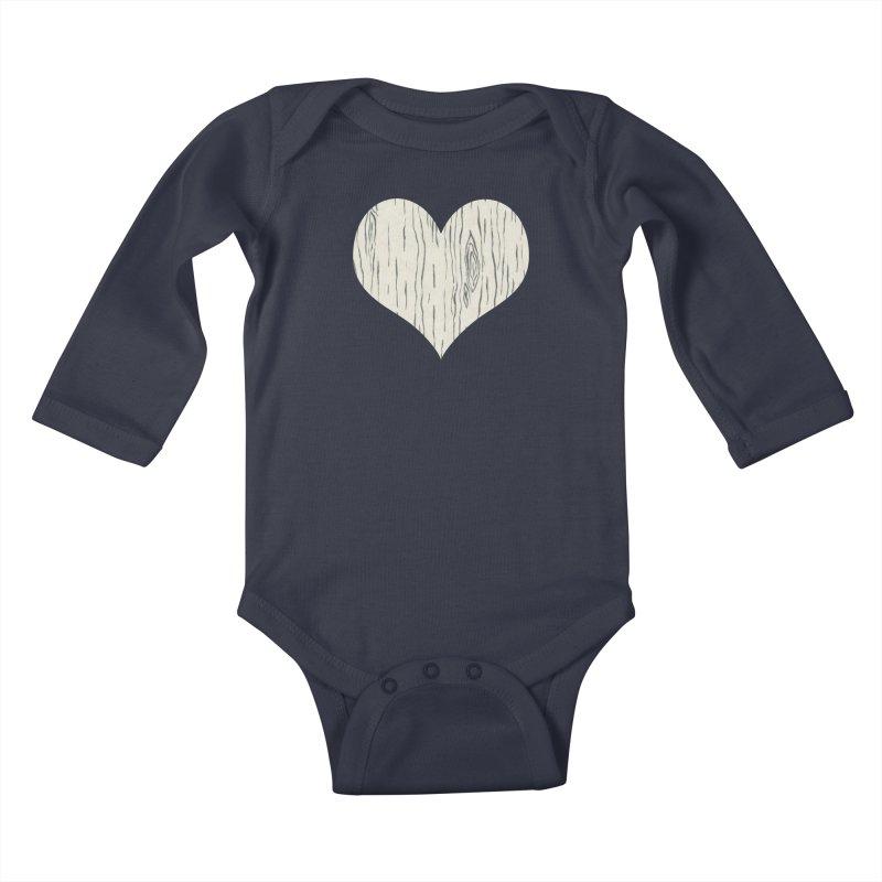 Heart of Birch Kids Baby Longsleeve Bodysuit by FashionedbyNature's Artist Shop