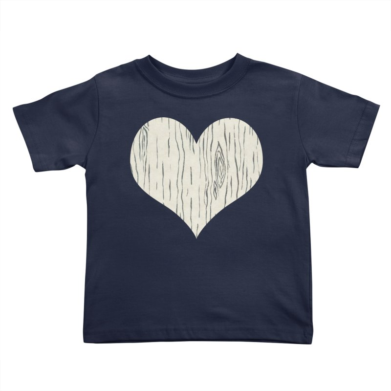 Heart of Birch Kids Toddler T-Shirt by FashionedbyNature's Artist Shop