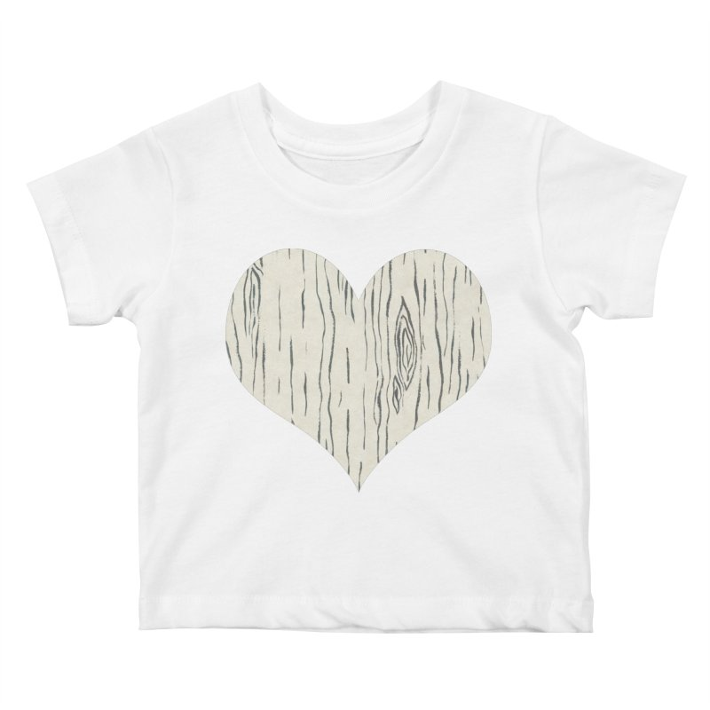Heart of Birch Kids Baby T-Shirt by FashionedbyNature's Artist Shop