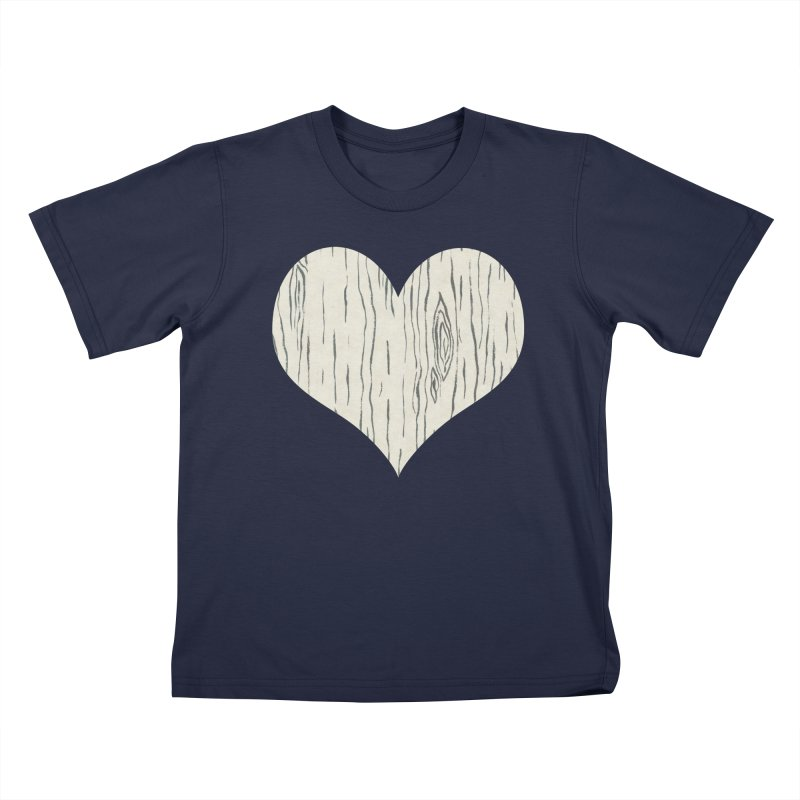 Heart of Birch Kids T-Shirt by All Fashioned by Nature Artist Shop