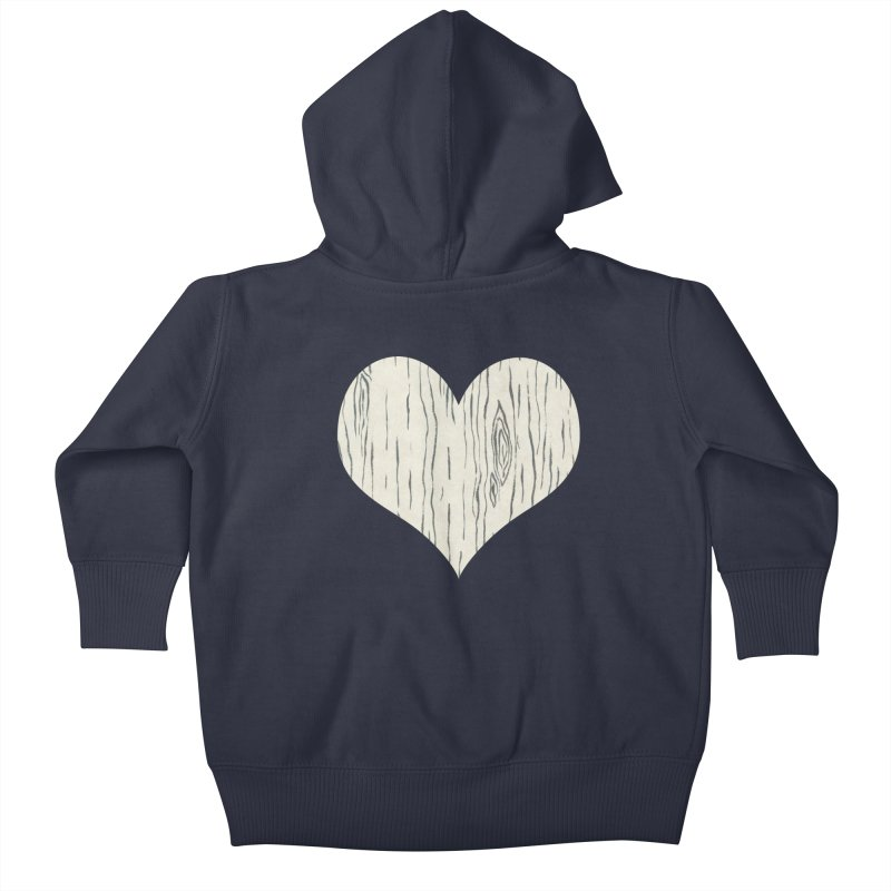 Heart of Birch Kids Baby Zip-Up Hoody by FashionedbyNature's Artist Shop