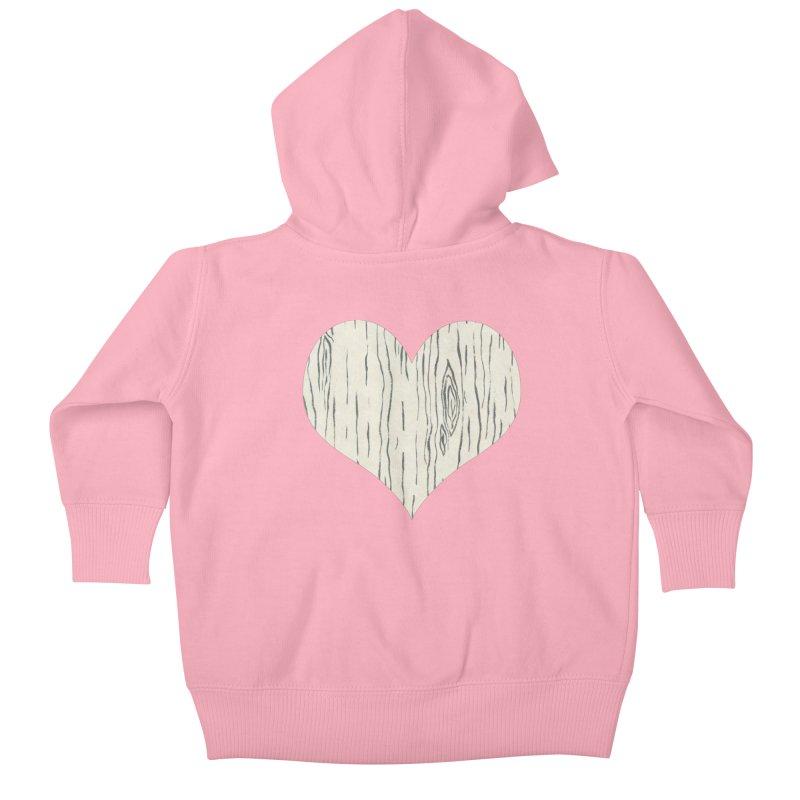 Heart of Birch Kids Baby Zip-Up Hoody by FashionedbyNature's Artist Shop