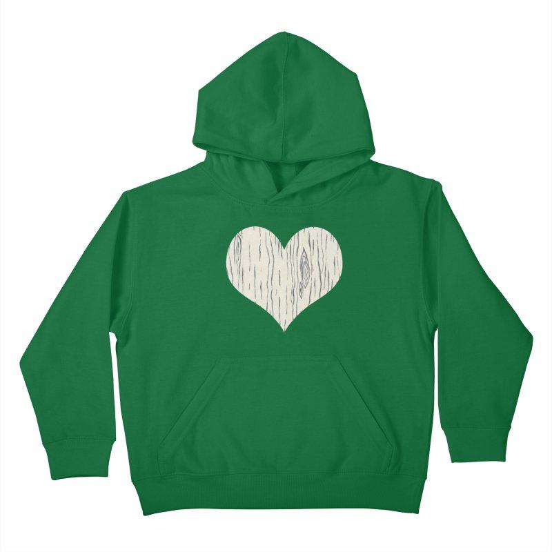 Heart of Birch Kids Pullover Hoody by FashionedbyNature's Artist Shop