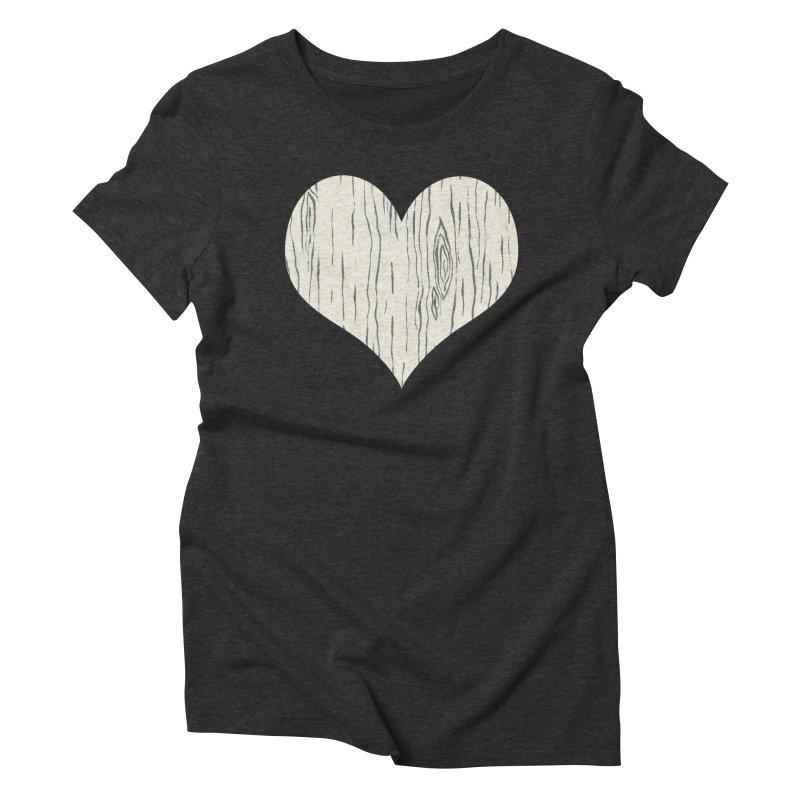 Heart of Birch Women's Triblend T-Shirt by FashionedbyNature's Artist Shop
