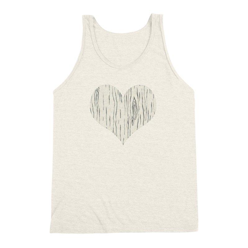 Heart of Birch Men's Triblend Tank by FashionedbyNature's Artist Shop