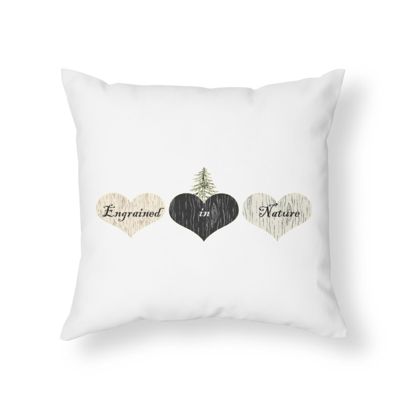 Engrained in Nature Home Throw Pillow by FashionedbyNature's Artist Shop
