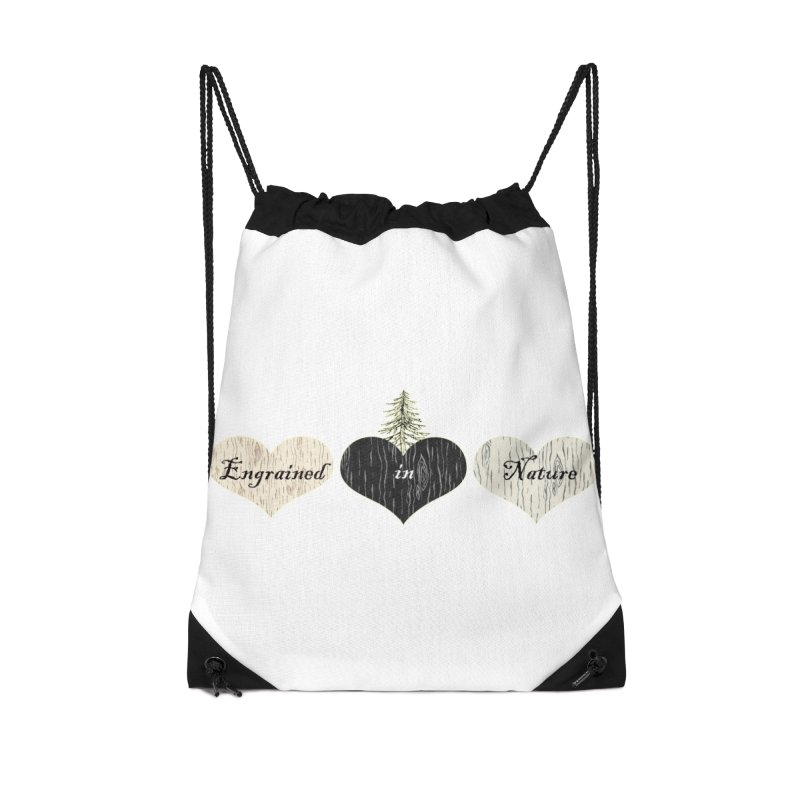Engrained in Nature Accessories Drawstring Bag Bag by FashionedbyNature's Artist Shop