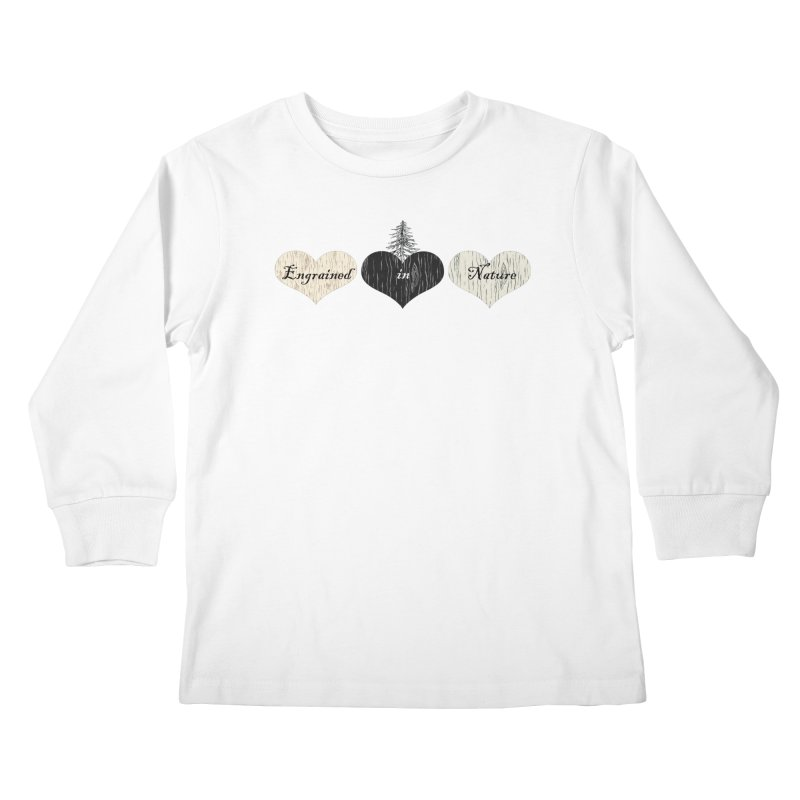 Engrained in Nature Kids Longsleeve T-Shirt by FashionedbyNature's Artist Shop