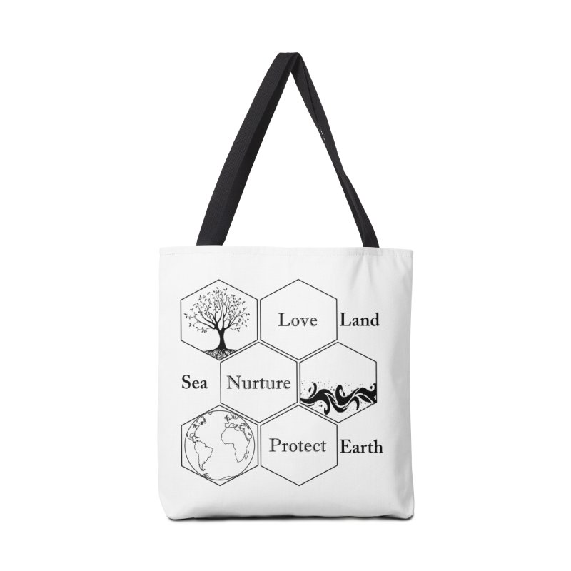 Land Sea Earth Accessories Tote Bag Bag by FashionedbyNature's Artist Shop