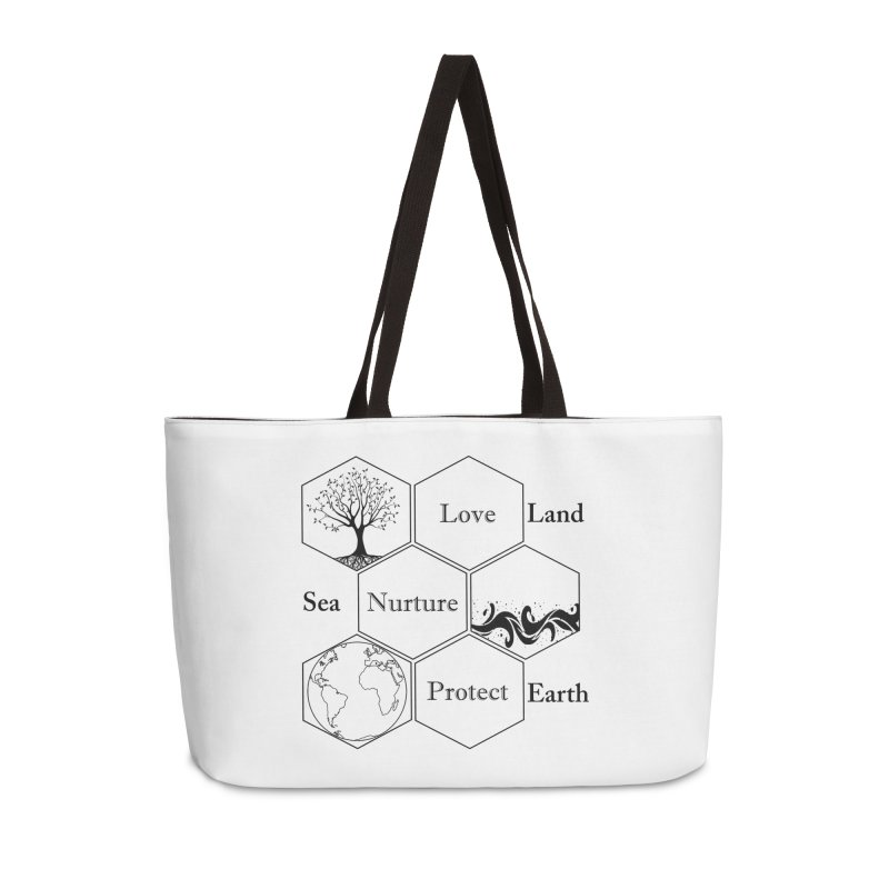 Land Sea Earth Accessories Weekender Bag Bag by FashionedbyNature's Artist Shop