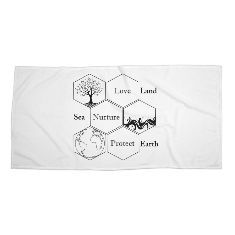 Land Sea Earth Accessories Beach Towel by FashionedbyNature's Artist Shop