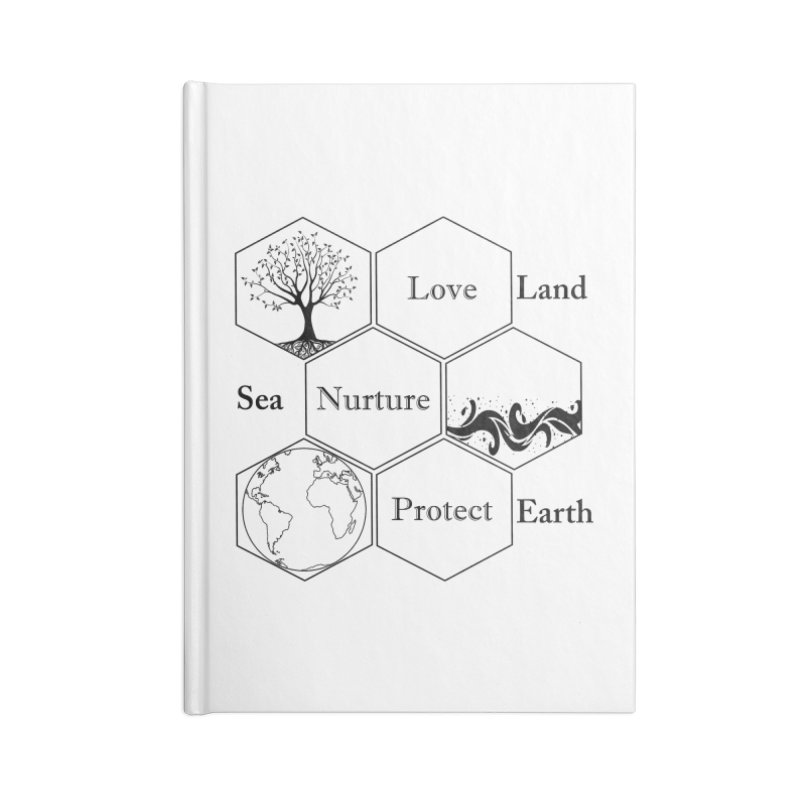 Land Sea Earth Accessories Lined Journal Notebook by FashionedbyNature's Artist Shop