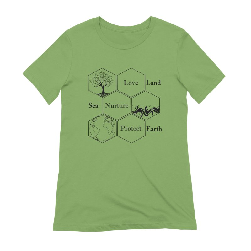 Land Sea Earth Women's Extra Soft T-Shirt by FashionedbyNature's Artist Shop