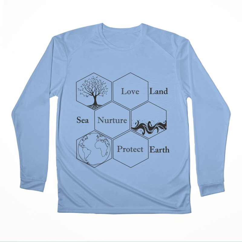 Land Sea Earth Women's Longsleeve T-Shirt by All Fashioned by Nature Artist Shop