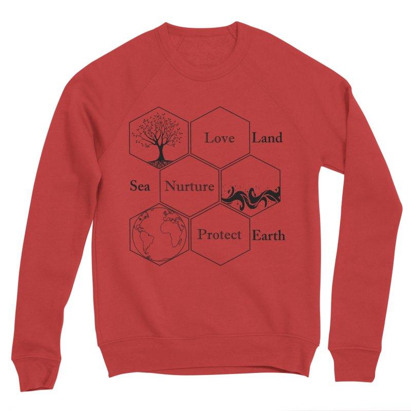 Land Sea Earth Women's Sponge Fleece Sweatshirt by FashionedbyNature's Artist Shop