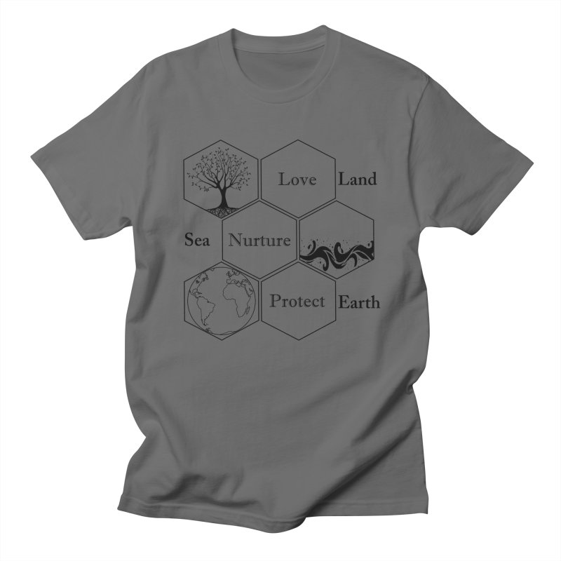 Land Sea Earth Men's T-Shirt by FashionedbyNature's Artist Shop