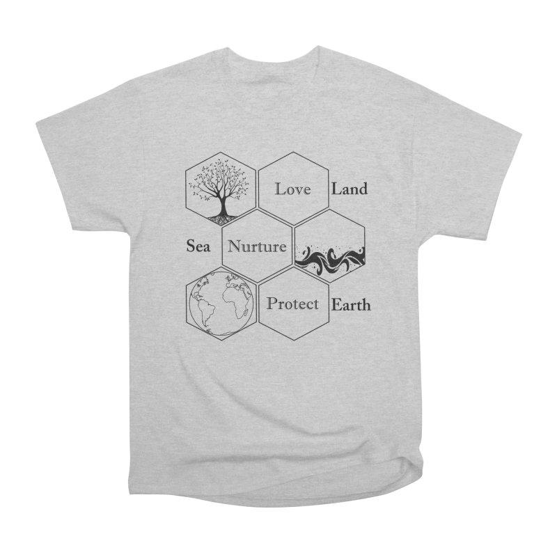 Land Sea Earth Women's Heavyweight Unisex T-Shirt by FashionedbyNature's Artist Shop