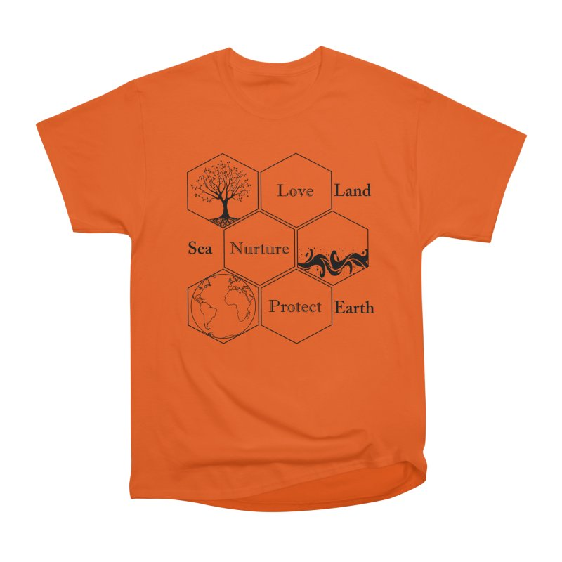 Land Sea Earth Men's Heavyweight T-Shirt by FashionedbyNature's Artist Shop