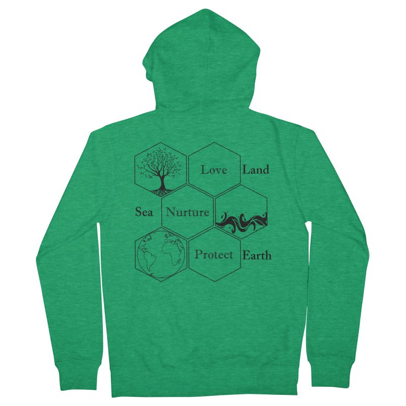 Land Sea Earth Men's Zip-Up Hoody by All Fashioned by Nature Artist Shop