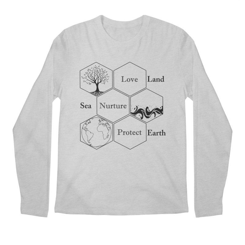 Land Sea Earth Men's Regular Longsleeve T-Shirt by FashionedbyNature's Artist Shop