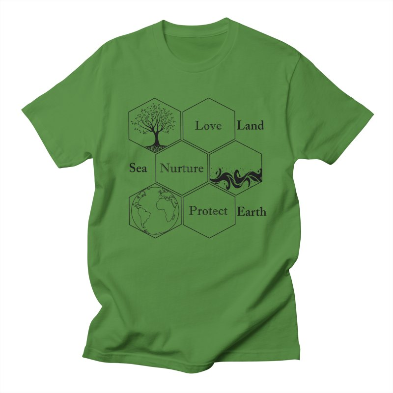Land Sea Earth Men's Regular T-Shirt by FashionedbyNature's Artist Shop