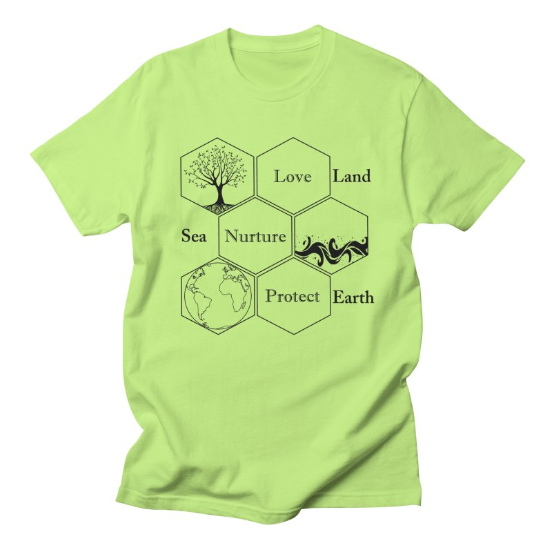 Land Sea Earth Women's Regular Unisex T-Shirt by FashionedbyNature's Artist Shop