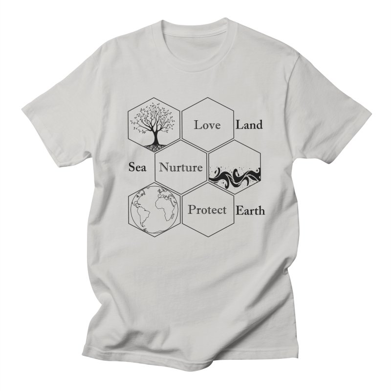 Land Sea Earth Men's Regular T-Shirt by FashionedbyNature's Artist Shop