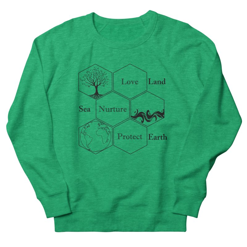 Land Sea Earth Men's French Terry Sweatshirt by FashionedbyNature's Artist Shop