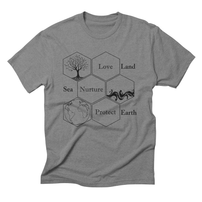 Land Sea Earth Men's Triblend T-Shirt by FashionedbyNature's Artist Shop