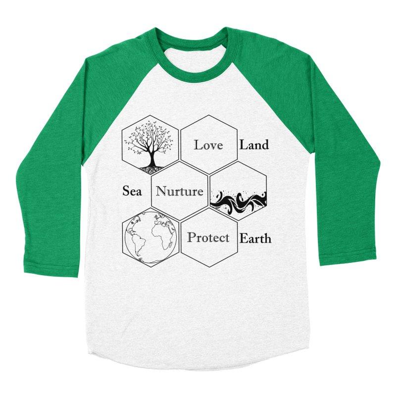 Land Sea Earth Men's Baseball Triblend Longsleeve T-Shirt by FashionedbyNature's Artist Shop