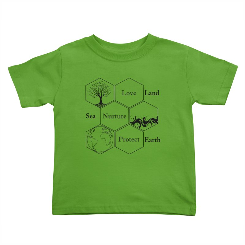 Land Sea Earth Kids Toddler T-Shirt by FashionedbyNature's Artist Shop
