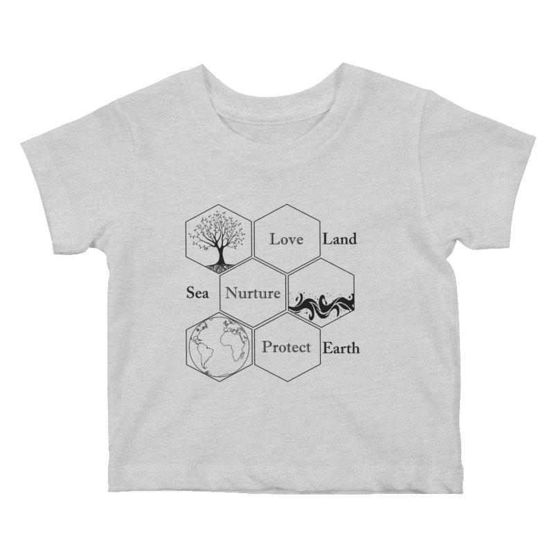 Land Sea Earth Kids Baby T-Shirt by FashionedbyNature's Artist Shop