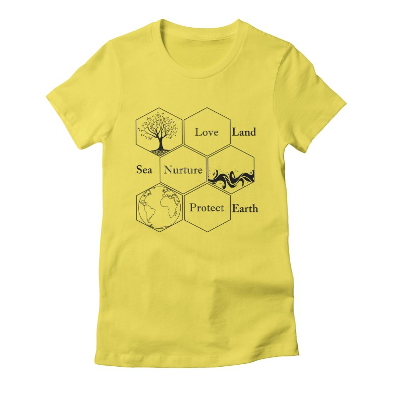 Land Sea Earth Women's T-Shirt by All Fashioned by Nature Artist Shop