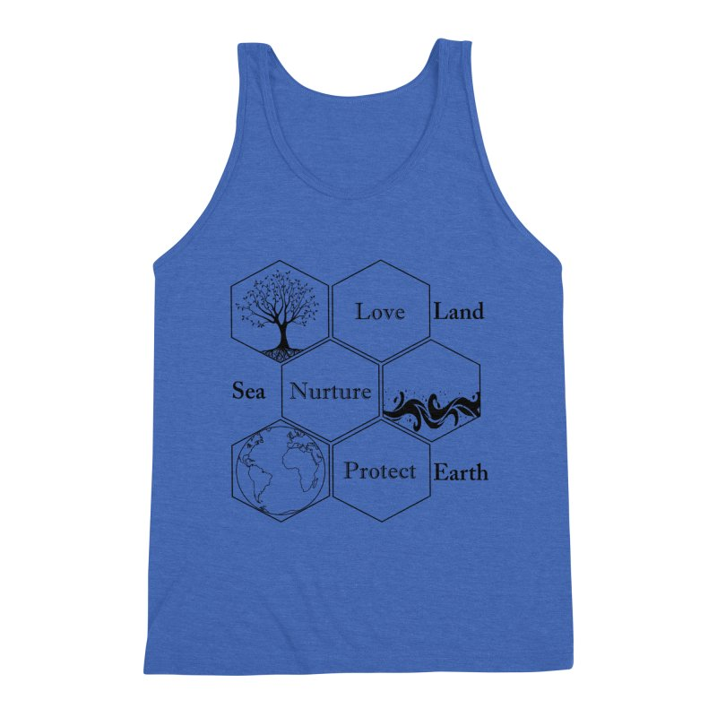 Land Sea Earth Men's Tank by All Fashioned by Nature Artist Shop