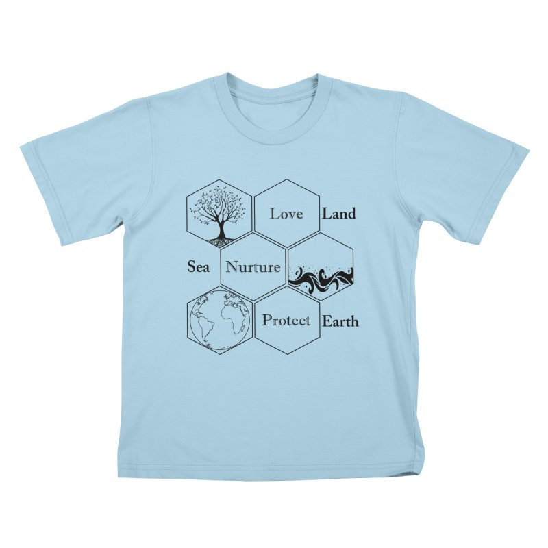 Land Sea Earth Kids T-Shirt by FashionedbyNature's Artist Shop