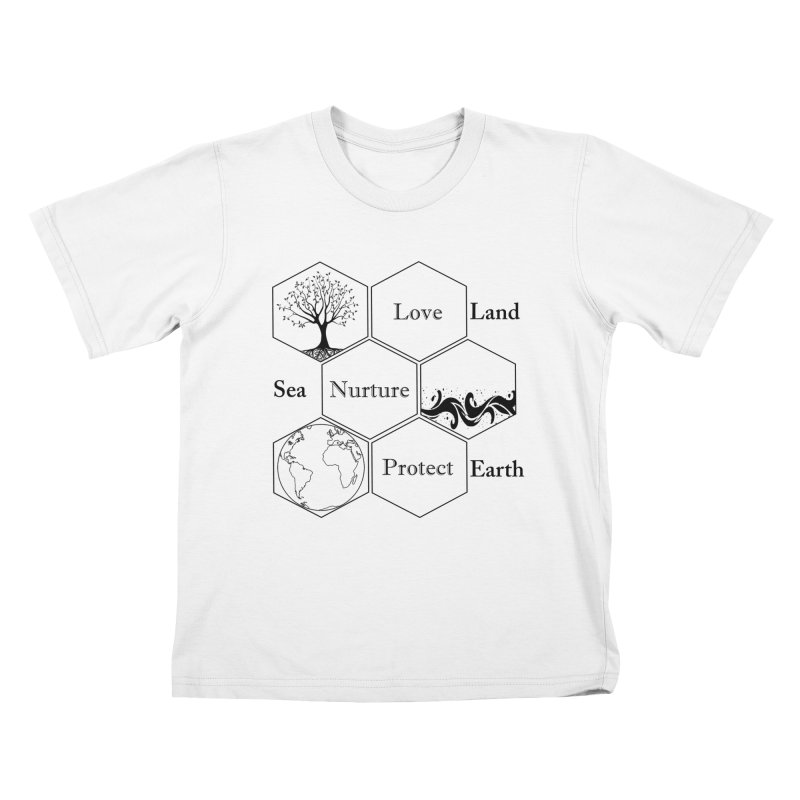 Land Sea Earth Kids T-Shirt by All Fashioned by Nature Artist Shop