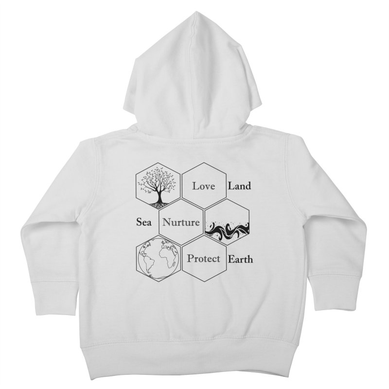 Land Sea Earth Kids Toddler Zip-Up Hoody by FashionedbyNature's Artist Shop