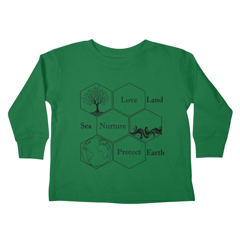 Land Sea Earth Kids Toddler Longsleeve T-Shirt by FashionedbyNature's Artist Shop