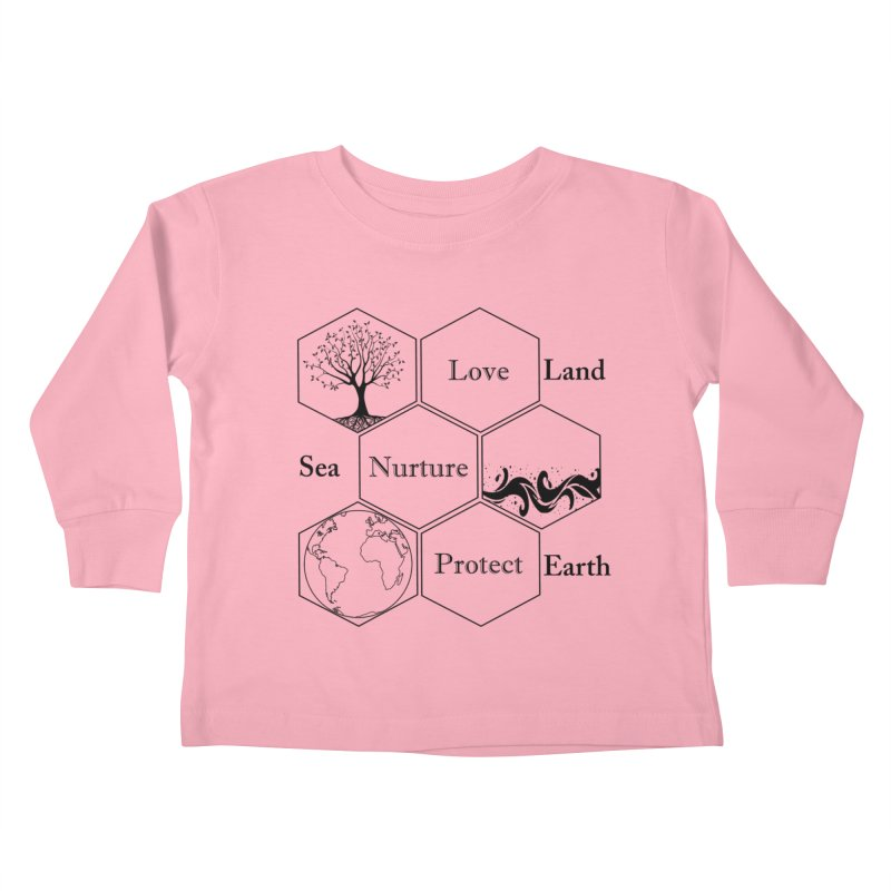 Land Sea Earth Kids Toddler Longsleeve T-Shirt by FashionedbyNature's Artist Shop