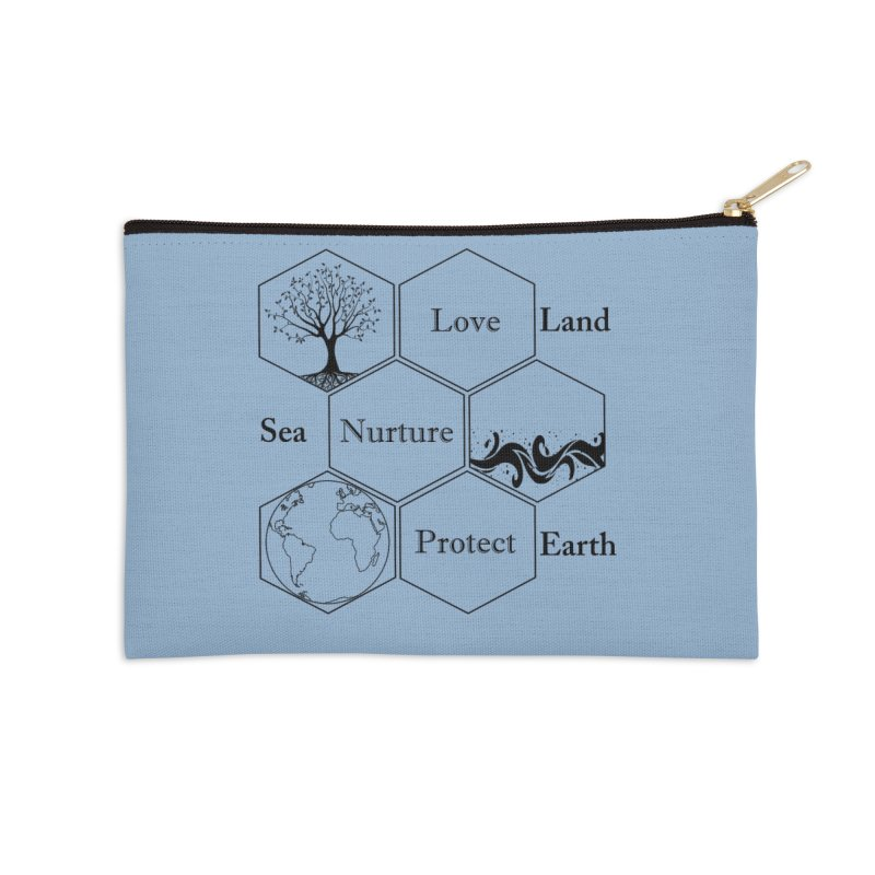 Land Sea Earth Accessories Zip Pouch by FashionedbyNature's Artist Shop
