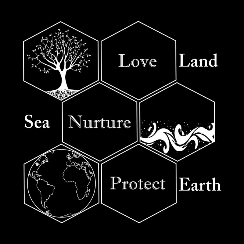 Land Sea Earth WL by FashionedbyNature's Artist Shop