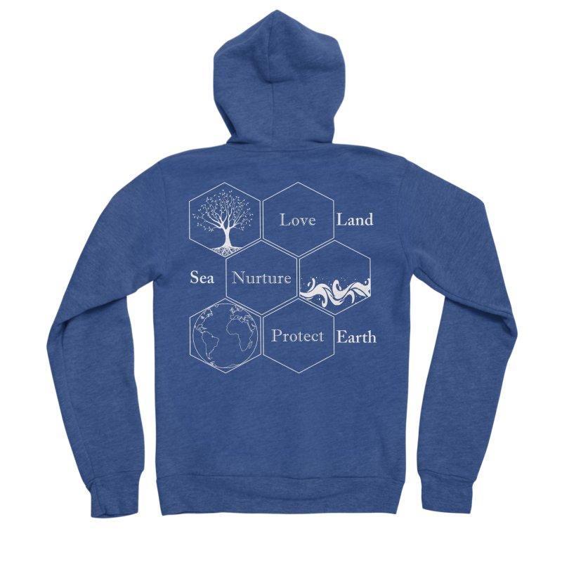 Land Sea Earth WL Men's Zip-Up Hoody by FashionedbyNature's Artist Shop